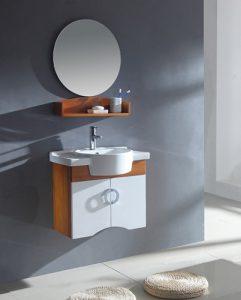 Light Maple Wall Mounted Bathroom Vanity From Legion Furniture