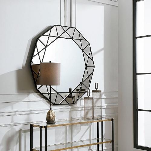 Manarola Decagon Shaped Mirror from Uttermost