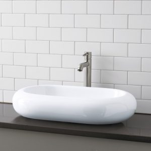 Oval Ceramic Vessel Bathroom Sink From Decolav