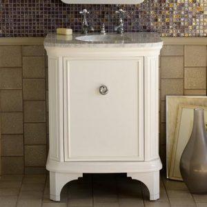 Savina 27 Inch White Bathroom Vanity From Porcher