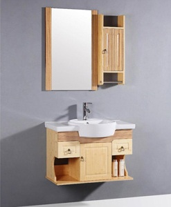 Spa Style Bamboo Wall Mounted Bathroom Vanity From Legion Furniture