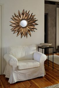 Prentiss Mirror in Stonyford Gold From Dimond Lighting