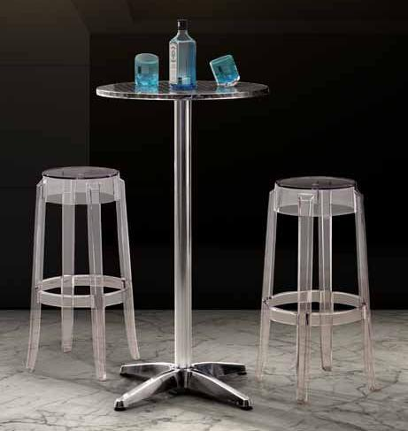 Anime Transparent Bar Stool And Christabel Folding Bar Table From Zuo