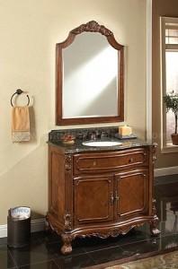 Barrister Bathroom Vanity With Mahogany Veneers From Sagehill Designs