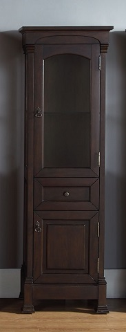 Brookfield Linen Cabinet in Burnished Mahogany 147-114-5066 from James Martin Furniture