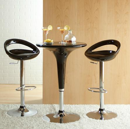 Clyde Adjustable Table And Agnes Bar Stools
