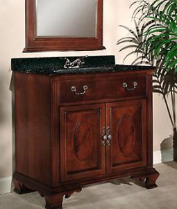 Dorchester Vanity With Mahogany Veneers From Kaco