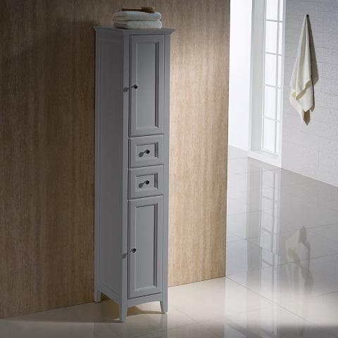 Oxford Gray Tall Bathroom Linen Cabinet FST2060GR from Fresca