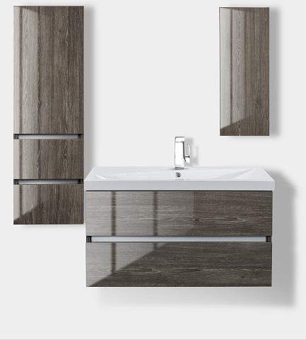 Sangallo Fossil Oak Wall Hung Linen Tower FVFOSSILO15LT from Cutler Kitchen and Bath