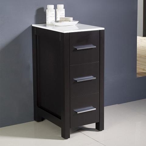 "Torino 12"" Espresso Bathroom Linen Side Cabinet FST6212ES from Fresca"
