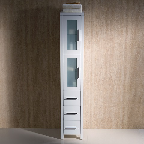 Torino White Tall Bathroom Linen Side Cabinet FST6260WH from Fresca