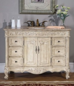 Weathered Antique White Bathroom Vanity From Silkroad Exclusive