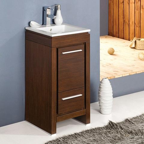 "Allier 16"" Wenge Brown Bathroom Vanity With Sink FCB8118WG-I from Fresca"