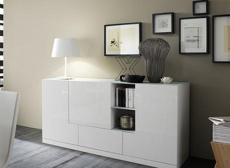 Alma White Buffet From Rossetto
