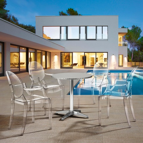 Anime Clear Outdoor Dining Chair 106104 from Zuo Modern