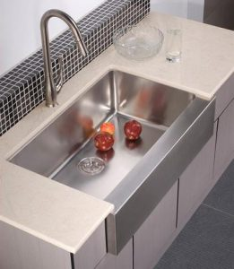 Apron Front Stainless Steel Sink With Pull Down Faucet From Dawn