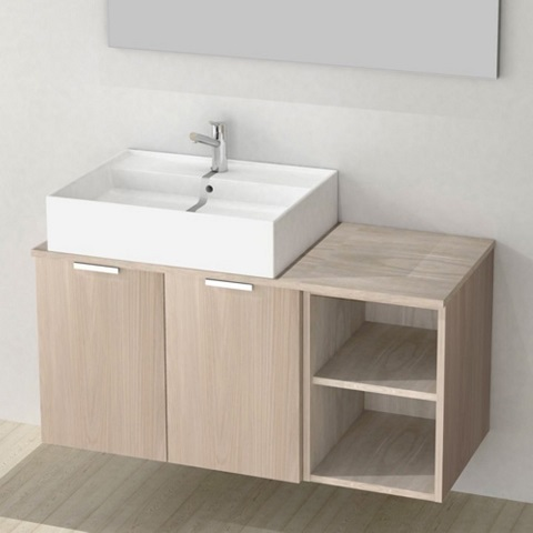 """Extra Space 41"""" Bathroom Vanity Cabinet With Offset Fittes Dink ES01 from Arcom"""
