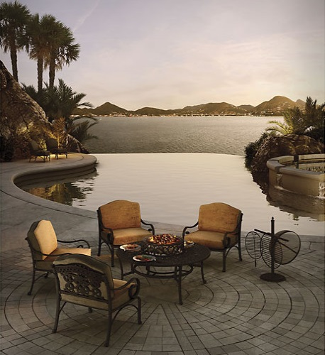 Fiesta 6-PIece All-Inclusive Chat Outdoor Dining Set GF-LD8081AB-21 from AFD