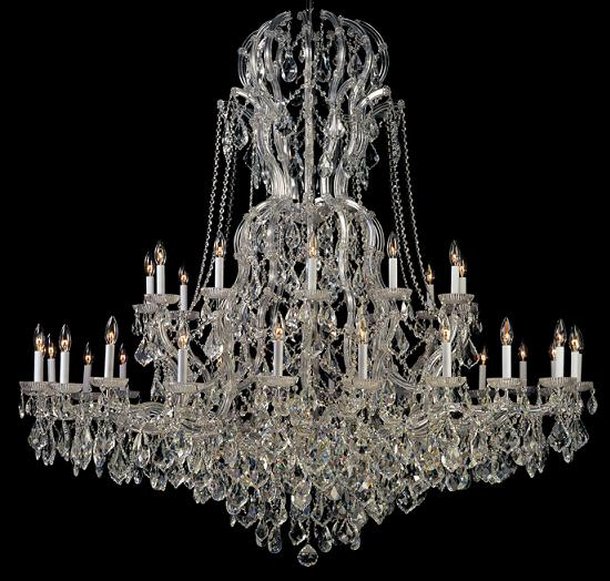 Large Crystal Chandeliers For Big Luxurious Spaces - Strass chandelier crystals