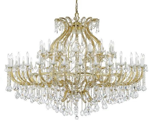 Maria Theresa Gold Chandelier With Wood Finished Crystal From Crystorama