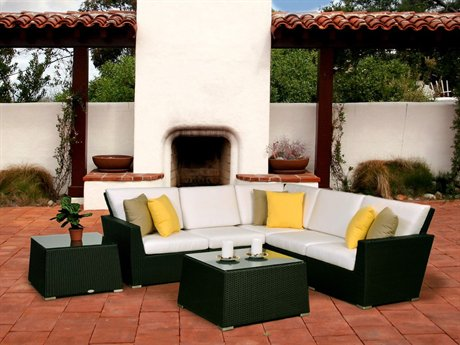 Maxime Wicker Lounge Set From Caluco