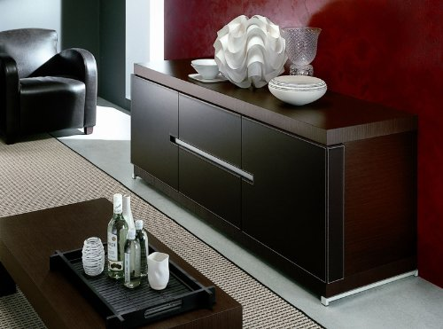 Mirage Buffet In Wenge And EcoLeather From Rossetto