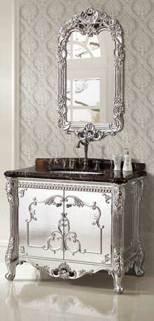 Silver Foil Designer Bathroom Vanity From Legion Furniture