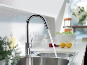 Single Handle Faucet And Stainless Steel Sink From AmeriSink