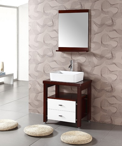 """Solid Wood 26.5"""" Sink Chest with Mirror WA3150 from Legion Furniture"""