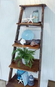 Vintage Library Ladder Leaning Shelf From Sterling Lighting