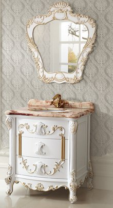 Ornate Antique Bathroom Vanities For