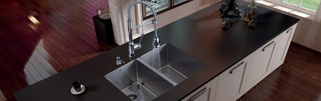 Stainless Steel Sinks And Modern Kitchen Faucets - Quick Kitchen ...