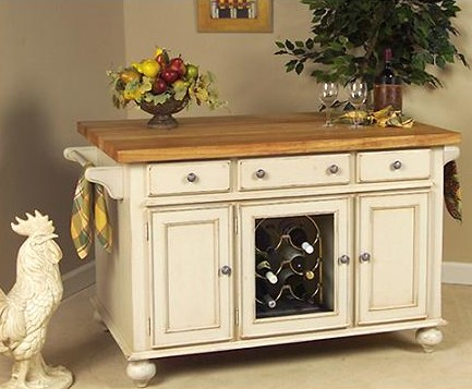 A La Carte Kitchen Island With Wine Rack And Open Storage From Kaco