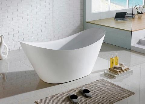 """Eviva Lulu Free Standing 68"""" Acrylic Bathtub EVTB6227-68WH"""