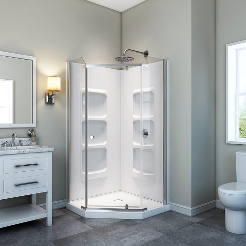 Nevada Neo Angle Shower Enclosure Kit With Acrylic Base And Walls SK-NA32 from A&E