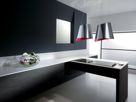 Ola Bright Series Ductless Range Hood In Red From Elica