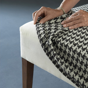 Putting On A Houndstooth Slipcover