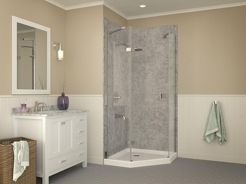 Randi Neo-Angle Double Threshold Shower Base SB-AZ01NO from Anzzi