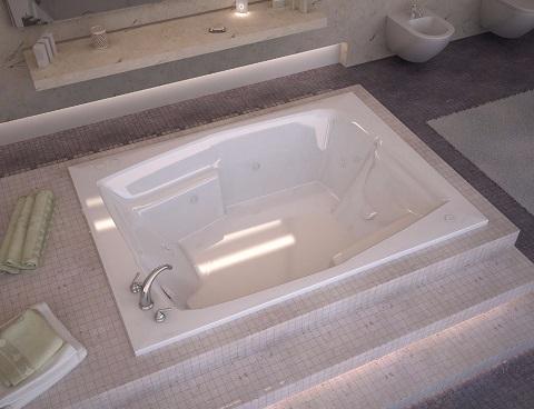 Venzi Capri 54 X 72 Rectangular Whirlpool Jetted Bathtub VZ5472CWL