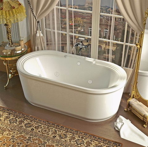 Venzi Grand Tour Padre 34 X 67 X 21 Oval Air & Whirlpool Water Jetted Bathtub VZ3467RDX