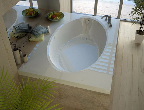 Venzi Viola 42 X 72 Rectangular Air Jetted Bathtub With Right Drain VZ4272VAR