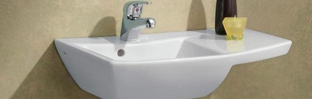 wall mounted bathroom sinks for your half bath or water closet - Wall Mounted Bathroom Sink