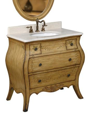 Antique Bathroom Vanity With Hand Painted Vines From Belle Foret