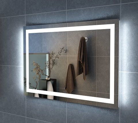 "Carina 48"" Illuminated Rectangle LED Mirror FMR-CARINA-4832-LED from Finesse"
