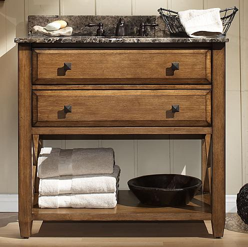 Buy Weathered Wood Bathroom Vanities For A Cottage Style ...
