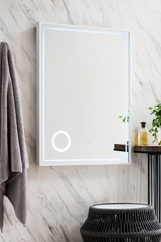 """Tampa 23.6"""" Mirror in Glossy White 901-M23.6-GW from James Martin Furniture"""