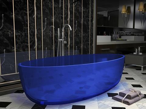 Opal One Piece Freestanding Bathtub in Regal Blue FT-AZ522-BL from Anzzi