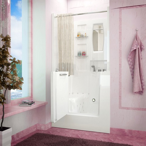 Whirlpool and Air-Jetted Walk in Bathtub from Venzi