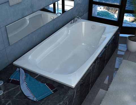 Aesis Rectangular Soaking Bathtub from Venzi