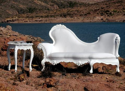 Chaise Lounge With Accent Table From PolArt